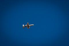 An A-10 Warthog flies high overhead in Tucson, Arizona.