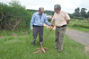 Hernan Ceballos (right) and Peter Kulakow in cassava field (IITA Image Library) Tags: nigeria cassava varieties iita manihotesculenta