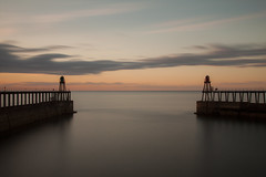 Whitby Pier Sunset (RichRobson) Tags: longexposure sunset pier whitby yorkshirecoast 10stop