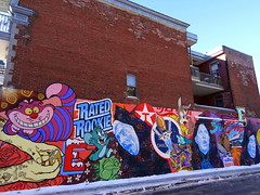 Mural in the Plateau neighbourhood of Montreal (chibeba) Tags: city winter vacation urban holiday canada montral quebec montreal january northamerica qc 2016 citybreak