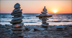 ile de r (Paucal) Tags: leica sunset sea sun de soleil sand bokeh ile summilux50 r m9 rockpiles