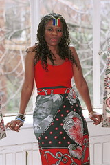 Mpume Beautiful South African Zulu Nurse Havercourt Studio London Ethnic Fashion Red Top Portrait March 2001 003 (photographer695) Tags: 2001 red portrait london beautiful fashion studio march top african south nurse ethnic zulu mpume havercourt