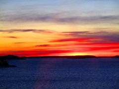 sunset (satu.ylavaara) Tags: sunset ferry auringonlasku vrit ryijy pakkanen raanu