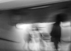 (*_**_*_*_) Tags: street people blackandwhite bw blur rome monochrome station stairs contrast experimental metro ghost grain flare noise dystopia metrorome