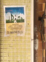 Cheung Chau 15 (Lauren Fitzpatrick) Tags: wall poster square island hongkong small tiles covered cheungchau layered