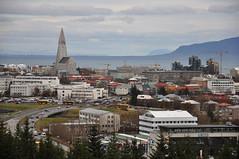 Reykjavk view, Iceland (nassimjaouen) Tags: travel sky urban mountain architecture clouds buildings square iceland nikon cityscape reykjavik squareformat perlan reykjavk hallgrmskirkja islande picoftheday d90 nikond90 igers instagram instagramapp uploaded:by=instagram instagramers instagood instamood whyiceland