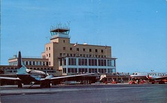 Bradley Field, Airport, Connecticut (SwellMap) Tags: architecture plane vintage advertising design pc airport 60s fifties aviation postcard jet suburbia style kitsch retro nostalgia chrome americana 50s roadside googie populuxe sixties babyboomer consumer coldwar midcentury spaceage jetset jetage atomicage