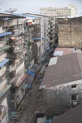 (AsianInsights) Tags: poverty city facade grey asia southeastasia apartment yangon burma dirt pollution fungus goldenvalley myanmar mold middleclass apartmentblock rangoon 2016 blazon blackmold myanma middleclasshousing uwisararoad february2016