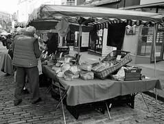 Farmers Market 1 (Song-to-the-Siren) Tags: blackandwhite bw 35mm 35mmfilm 100 pan analogue ilford compactcamera classiccamera ricohgr1 ilfordpan100