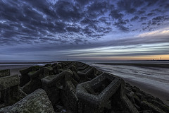 New Brighton Groyne (MarkWaidson) Tags: sky beach clouds sunrise groyne newbrighton