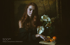 Girl with flower (Dmytro Cherkasov) Tags: red portrait inspiration flower art girl beautiful beauty fruit painting photography fine atmosphere romantic historical 500px ifttt