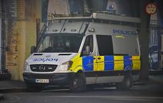 British Transport Police Special Operation Support Unit. Mercedes WP09 AJU (standhisround) Tags: london mercedes police special waterloo osu vehicle van emergency waterloostation sprinter britishtransportpolice wp09aju operationsupportunit