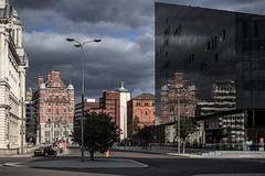 In Liverpool (Piotr_PopUp) Tags: street city uk england reflection liverpool cityscape waterfront mersey jamesst openeyegallery