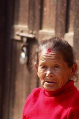 Patan, Nepal (Sharon and Peter Komidar) Tags: nepal candid patan wrinkles peoplewatching