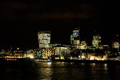 The City at Night (iamfisheye) Tags: camera city london thames night lights olympus kit f18 gherkin em1 17mm