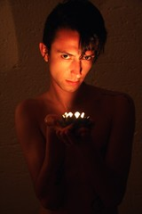 Candlelit face (Vaughanoblapski!) Tags: face candle gary candlelit