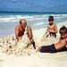 Sandcastle builders, Kailua beach