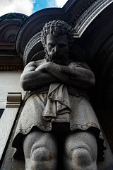 bowed (mym) Tags: sculpture statue giant beard grey scotland glasgow victorian granite statuary argylestreet atlante