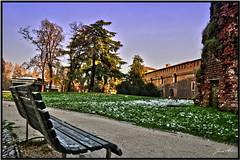 Al Parco (- Fabrizio -) Tags: park city sky italy parco milan garden nikon italia shot milano lombardia hdr panchina d5000 nikond5000