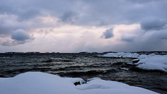 Cold (Jens Haggren) Tags: winter sea snow seascape cold ice water clouds islands sweden horizon olympus värmdö em1