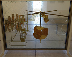 Duchamp, The Large Glass, detail with Bachelor Apparatus
