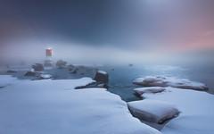 Foggy night at Norssalmi (Jyrki Salmi) Tags: sea snow ice fog night finland nikon fullmoon moonlight nikkor jyrki kotka d600 1635mm salmi hirssaari norssalmi