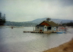 Off Season (SLEEC Photos/Suzanne) Tags: lake snow lensbaby dock textured waterscape flypaper boatshack