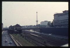 (Kaopai) Tags: bridge west color berlin vintage bahnhof autobahn dia 1966 architektur sbahn brcke funkturm farbe farbig westberlin historisch westen farbfoto farbdia