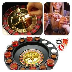 รูเล็ตเกม Lucky Shot Drinking Game >> http://bit.ly/gameRoulette  การวัดดวงหมุนวงล้อ Roulette โดยให้ลูกเหล็กตกตามเลขหมาย เหมาะสำหรับใช้เล่นกับเพื่อนๆ หรือไว้ใช้ในงานปาตี้ก็ได้ครับ ในนี้มีแก้วให้ทั้งหมด 16 ใบ มีลูกเหล็กให้ 2 ลูก ใครอยากไปคาสิโนแต่ยังไม่เคย