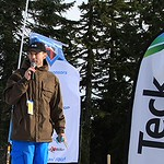 Grouse Teck U16 Open SL - Teck's Chris Stannell at awards ceremony PHOTO CREDIT: Martin Rother, Grouse Tyee