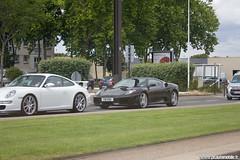 24h du Mans 2011 - Porsche 911 997 GT3 & Ferrari F430 (Phautomobile.fr / Deux-Chevrons.com) Tags: auto car modern automobile 911 automotive ferrari voiture exotic coche porsche gt supercar exotics f430 430 gt3 997 ferrarif430 sportcar ferrari430 porsche911gt3 porsche997gt3