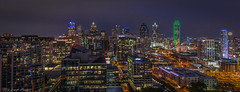 Dallas Skyline At Night (Northside) (JosephHaubert) Tags: nightphotography urban skyline architecture composition skyscraper yahoo dallas cityscape urbanphotography reuniontower dallastx bankofamericaplaza downtowndallas fountainplace dallasskyline uptowndallas yahooweather artseek wfaa8 parklandhealthhospital