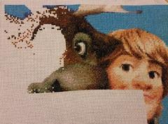 Svens Nose and Filling In (diedintragedy) Tags: eye reindeer nose frozen crossstitch sewing crafts progress disney stitching sven artsandcraft kristoff frozencrossstitch crossstitchproject crossstitchprogress