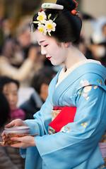 (byzanceblue) Tags: flower girl beauty lady kyoto maiko geiko geisha    gion   yasaka