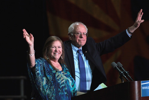 From flickr.com: Bernie & Jane Sanders {MID-132468}