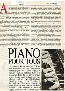 MICHEL SOGNY PRESSE MARIE FRANCE JUIN 1984