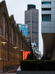 Tower 42, with Liverpool Street Station on the left, London (godrick) Tags: uk england london tower42 liverpoolstreet cityoflondon gbr