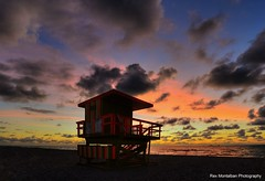 sunrise in miami (Rex Montalban Photography) Tags: sunrise florida miami southbeach lifeguardtower rexmontalbanphotography