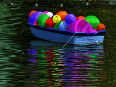1 Floating with Assorted Colors (Mertonian) Tags: blue red orange colour green art colors yellow canon 1 boat with creative floating powershot dreamy tethered assorted mertonian canonpowershotsx60hs robertcowlishaw sx60hs 1floatingwithassortedcolors