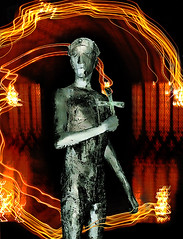 Edmund the Martyr (RUM OWD DEW) Tags: statue suffolk shrine battle arrows christianity vikings danes burystedmunds heathen beheaded anglosaxon kingjohn stedmund elizabethfrink kingcanute kingedmund buresstmary edmundthemartyr ivartheboneless eastanglianking haegelisdun thelweard