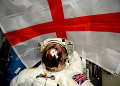 St Georges Day (Tim Peake) Tags: england flag spacesuit