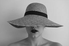 Vanessa-Lyn (seanberrigan.com) Tags: light portrait blackandwhite woman toronto film girl beauty hat analog natural kodak trix grain lipstick vsco vscofilm