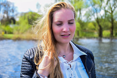 Kim Lobbezoo 4 (M van Oosterhout) Tags: portrait people woman sun lake holland cute netherlands girl beautiful face fashion female clouds model pretty photoshoot modeling stunning editorial