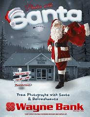 Marshalls Creek Santa Event (Justin Roach Work Stuff) Tags: santa advertising design graphicdesign bank batman brucewayne marshallscreek waynebank
