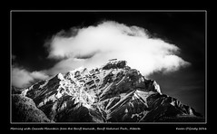 Morning with Cascade Mountain from the Banff townsite, Banff National Park, Alberta (kgogrady) Tags: morning blackandwhite bw mountain snow canada landscape blackwhite spring nikon noone sunny ab nopeople alberta infrared banff nikkor dx banffnationalpark parkscanada canadianrockies 2016 westerncanada canadianmountains mountcascade d80 canadiannationalparks canadianlandscapes mtcascade cans2s banfftownsite albertalandscapes nikonafs18200mmgvr canadianrockieslanscape