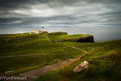 Path To The Neist Point Lighthouse (YuriFineart) Tags: pictures uk england lighthouse seascape storm art clouds print point scotland mood path fineart fine stormy yuri framing neist yurifineart
