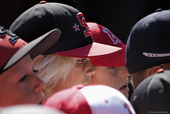 Lids.... (Joe Hengel) Tags: boys kids children baseball outdoor stadium caps hats socal angels southerncalifornia orangecounty anaheim clinic oc lids theoc angelsbaseball laangels