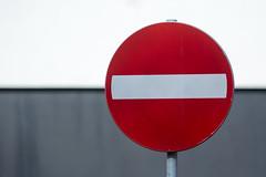No entry II (Jan van der Wolf) Tags: red lines sign dof depthoffield roadsign redrule noentry trafficsign lijnen scherptediepte eenrichtingsverkeer map15231v