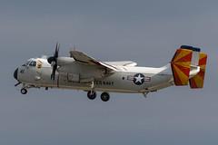"""162176/41 C-2A VRC-40 """"Rawhides"""" DET 1 - (USS Theodore Roosevelt CVN-71) - NAS Norfolk, VA (matty_pullen) Tags: greyhound airport norfolk cod c2 essex usn stansted cvn71 rawhides vrc40"""