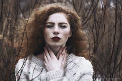 Maria (alexandra_bochkareva) Tags: red portrait face female hair fire russia sensual redhead fairy freckles feelings helios freckled